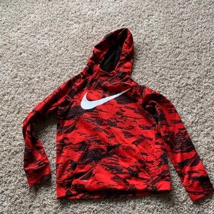 Nike Red and black hoodie